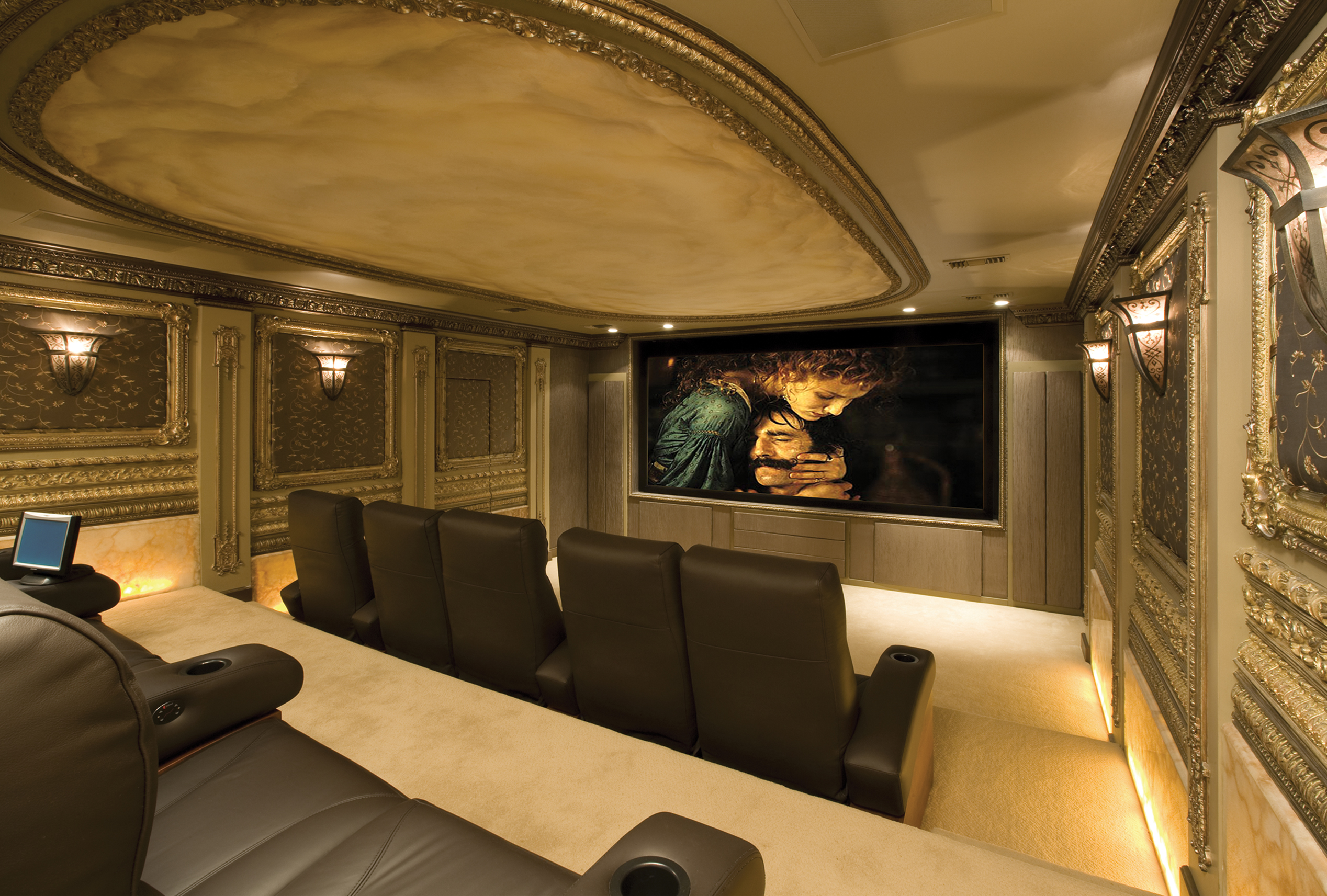 Captivating Custom Home Theater Winslow Design Group